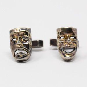 FENWICK & SAILORS Comedy & Tragedy Mask Cufflinks